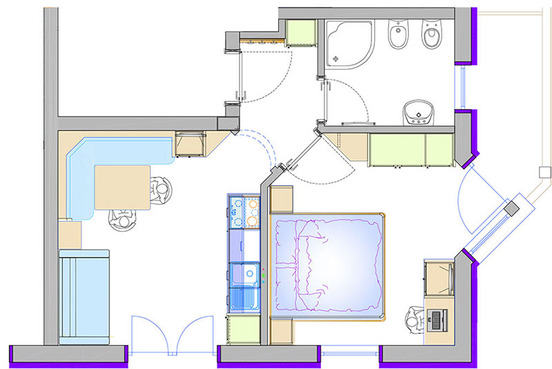 ferienwohnung 1 40 m f r 2 3 personen kuhnehof in s dtirol. Black Bedroom Furniture Sets. Home Design Ideas