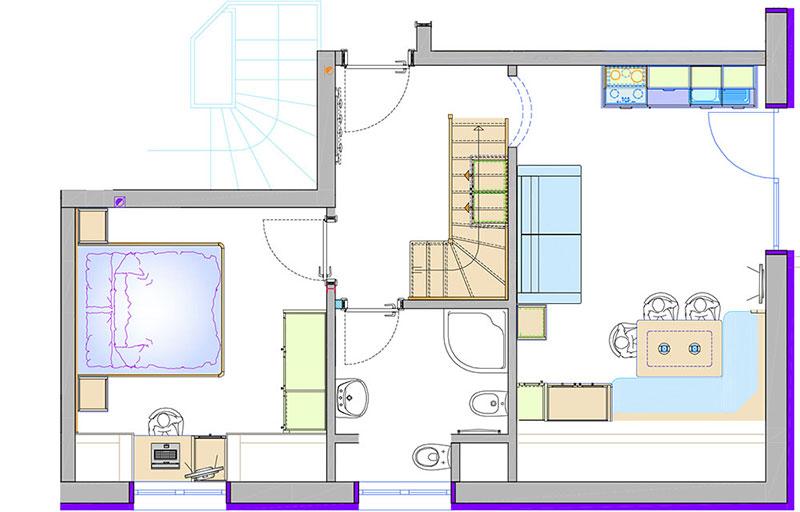 ferienwohnung 4 50 m f r 2 6 personen kuhnehof in s dtirol. Black Bedroom Furniture Sets. Home Design Ideas